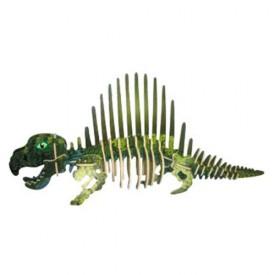 Dřevěné 3D puzzle skládačka dinosauři -  Dimetrodon JC012
