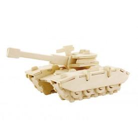 Dřevěné skládačky 3D puzzle - Tank