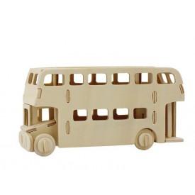 Dřevěné skládačky 3D puzzle - Patrový autobus
