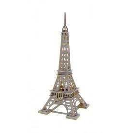 Dřevěné skládačky 3D puzzle - Eiffelova věž - šedá