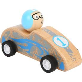 Small Foot Dřevěné auto Pull-back modré