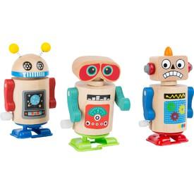 Small Foot Dřevěný natahovací robot 1ks modré nožičky
