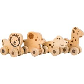 Small Foot Dřevěné zvířátko na kolečkách 1ks