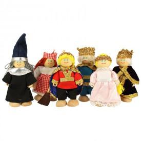 Bigjigs panenky - Set královské rodinky 6ks