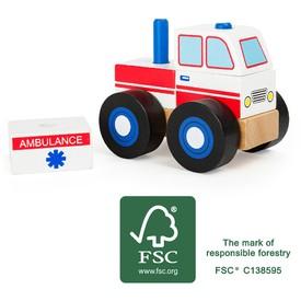 Small Foot Dřevěná skládací ambulance