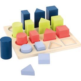 Small Foot Dřevěná edukativní tabulka geometrie