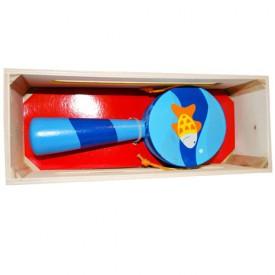 Dřevěné hračky-Dětské hudební nástroje -Bubínek s rukojetí B