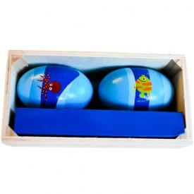 Dřevěné hračky - Dětské hudební nástroje -Rumbakoule vajíčka