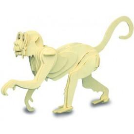 Dřevěné 3D puzzle dřevěná skládačka zvířata - Opice M009