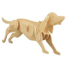 Dřevěné 3D puzzle dřevěná skládačka zvířata - Pes M011