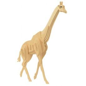 Dřevěné 3D puzzle dřevěná skládačka zvířata - Žirafa M020