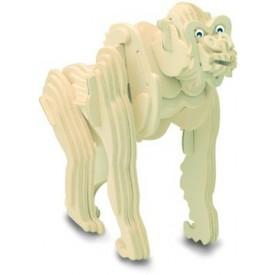 Dřevěné 3D puzzle dřevěná skládačka zvířata - Gorila M021