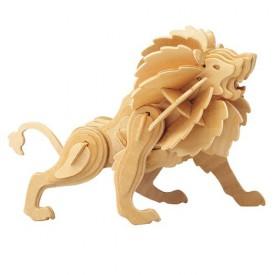 Dřevěné 3D puzzle dřevěná skládačka zvířata - Lev M028
