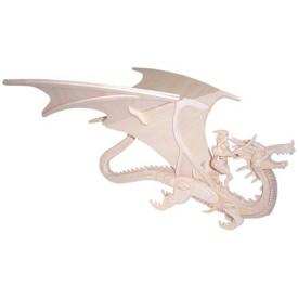 Dřevěné 3D puzzle skládačka zvířata - Drak a rytíř M042