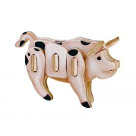 Dřevěné skládačky - sřední 3D puzzle - Prase
