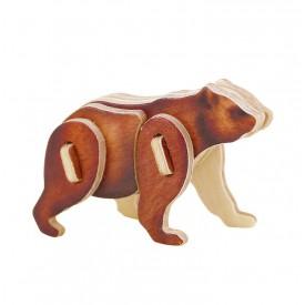 Dřevěné skládačky - sřední 3D puzzle - Medvěd