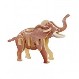 Dřevěné skládačky - sřední 3D puzzle - Slon