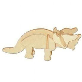 Dřevěné 3D puzzle skládačka - dinosauři  Triceratops MA1041
