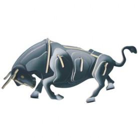 Dřevěné 3D puzzle dřevěná skládačka zvířata - Býk MC002A