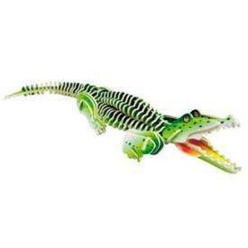 Dřevěné 3D puzzle dřevěná skládačka zvířata - Krokodýl MC013