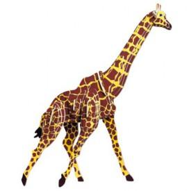 Dřevěné 3D puzzle dřevěná skládačka zvířata - Žirafa MC020