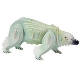 Dřevěné 3D puzzle skládačka zvířata - Lední medvěd MC023