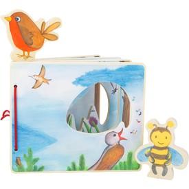 Legler Dřevěná obrázková knížka s včelkou