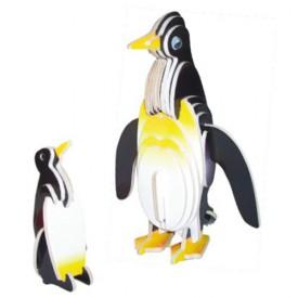 Dřevěné 3D puzzle dřevěná skládačka zvířata - Tučňáci MC030