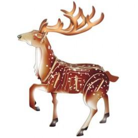 Dřevěné 3D puzzle dřevěná skládačka zvířata - Jelen MC031
