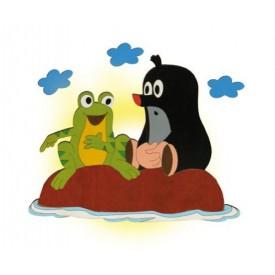 Dětská lampička - Krtek a žába