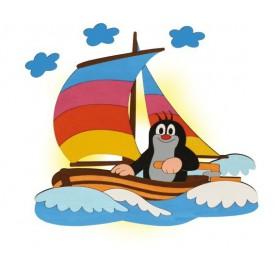 Dětská lampička - Krtek na lodi