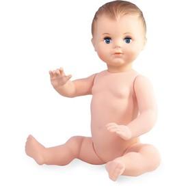 Petitcollin Koupací panenka sedící 40 cm (modré oči)