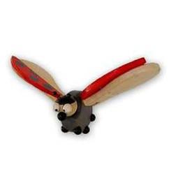 Dřevěná beruška na zavěšení