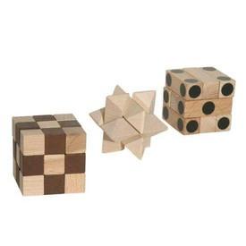 Dřevěné hlavolamy Trio IQ