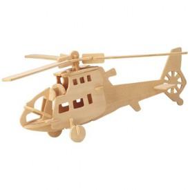 Dřevěné skládačky 3D puzzle letadla - Vrtulník P007