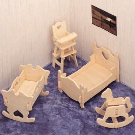 Dřevěné skládačky 3D puzzle - Dětský pokoj P010