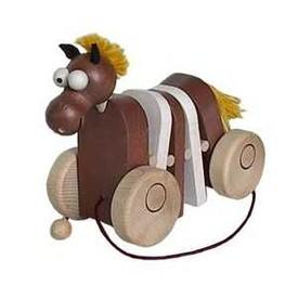 Dřevěný tahací koník Klapací