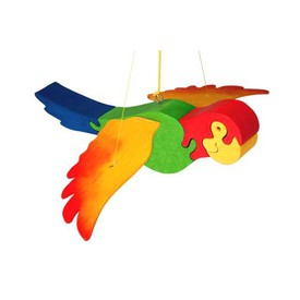 Dřevěný papoušek na zavěšení