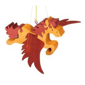 Dřevěný létající kůň na zavěšení