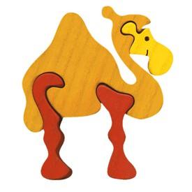 Dřevěné vkládací puzzle z masivu velbloud