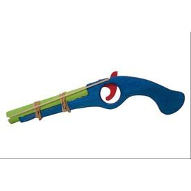 Dřevěná flinta modrá