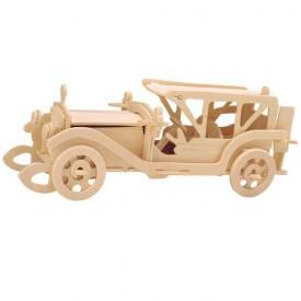 Dřevěné 3D puzzle dřevěná skládačka auta - Sumbeam P017