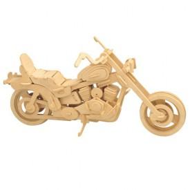 Dřevěné 3D puzzle skládačka Motorka Harley-Davidson I P019