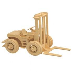 Dřevěné 3D puzzle skládačka auta - Vysokozdvižný vozík P024