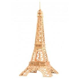 Dřevěné skládačky 3D puzzle slavné budovy Eiffelova věž P030