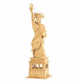 Dřevěné skládačky 3D puzzle slavné budovy Socha svobody P031