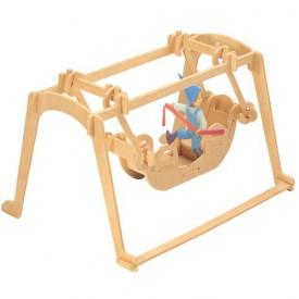 Dřevěné skládačky 3D puzzle - Houpačka P034