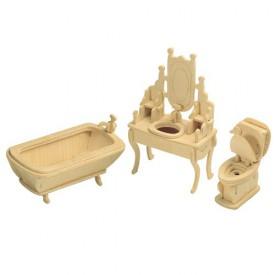 Dřevěné skládačky 3D puzzle nábytek a ostatní Koupelna P035