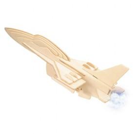 Dřevěné skládačky 3D puzzle letadla - Stíhačka F-16 P040