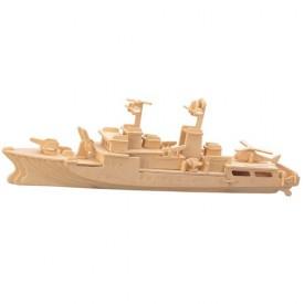 Dřevěné 3D puzzle lodě - dřevěná skládačka Torpédoborec P046